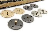 6 pcs 0.83~0.91 inch High-grade Gold/Silver/Gun black Snap Fastener Shank Buttons for Coats