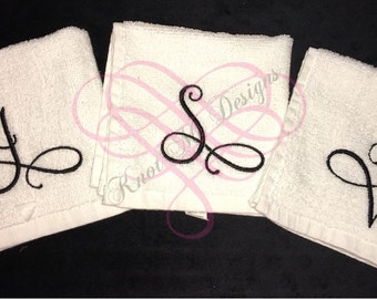Monogrammed wash clothes
