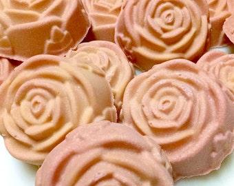 Jasmine Peach/sea salt soap/salt bar/goat milk soap/homemade soap/gift women/favors/soap favors/sea salt scrub bar