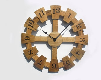 20'' wooden wall clock