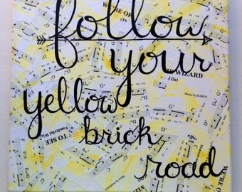 Follow Your Yellow Brick Road 12x12 Original Painting