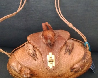 Vintage Armadillo Purse Hand Tooled