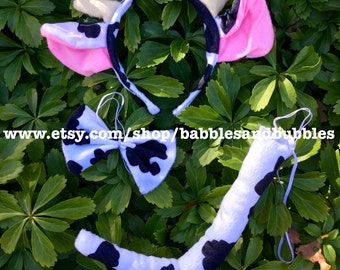 Comfortable Cow With Horns Headband Halloween Costume - Cow Ears Halloween Costume - Toddler Halloween Costume - NEXT DAY SHIPPING