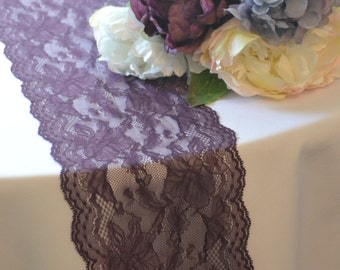 "PLUM LACE  6"" wide choose your length 3Ft -16 Ft /Custom Cut lace not hemmed/ Free Sample cutting available/ final inventory"