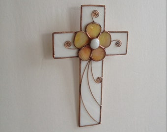 Cross Stained Glass Wall Hanging