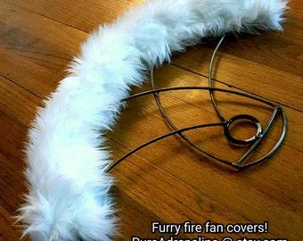 Fire fan wick covers, wick protection