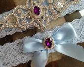 SALE-Wedding Garter-Garters-Stretch lace-light blue-somethingblue-Garter-Rhinestone-Pearl garter-Keepsake-Gray-Lace Garter-bridal garter