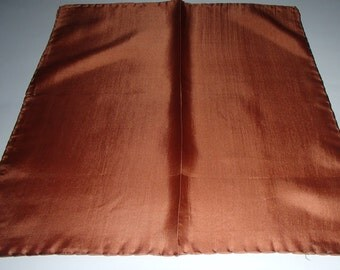 Renoir COPPER BROWN VINTAGE Silks Scarf Made in Italy for Renoir 1980S Rare Find