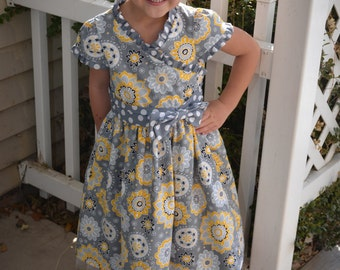 Little Girls Floral Party Dress with Tulle