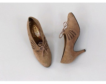 1970 french heels ankle booties made in FRANCE size 7.5