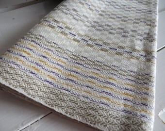 Free Shipp Towel  Unused Checkerboard Linen Lavender Yellow Stripes Country Style Upholstery Runner Dish Cloth Napkin  Bath Cloth Torchon