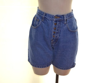 Denim Republic High Waisted Shorts, Jean Shorts Size 7, Size 8, Vintage Women's Shorts, Denim Shorts, High Waisted Jean Shorts, Hipster