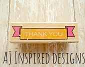 Thank You Mounted Rubber Stamp//Sale//Destash