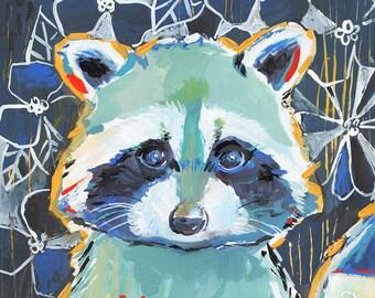 Mr. Raccoon - Art Print - Day 247 of Makewells365