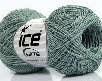 100 % Cotton superfine yarn Mint green  natural yarn 50gr/ 250m Summer knitting/ crochet yarn