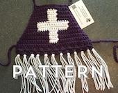 Crochet Pattern - 3 sizes infant, toddler & child, Cross crop top / bikini top.  Boho kids.  Summerwear.