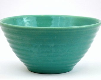 Bauer Turquoise Ringware Mixing Bowl #12