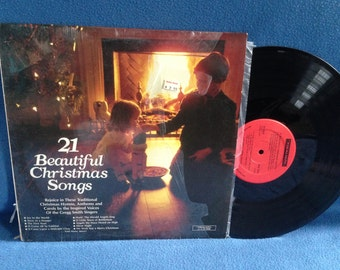 """Vintage, The Gregg Smith Singers  - """"21 Beautiful Christmas Songs"""", Vinyl LP Record Album, Traditional, Silent Night, Joy to The World"""