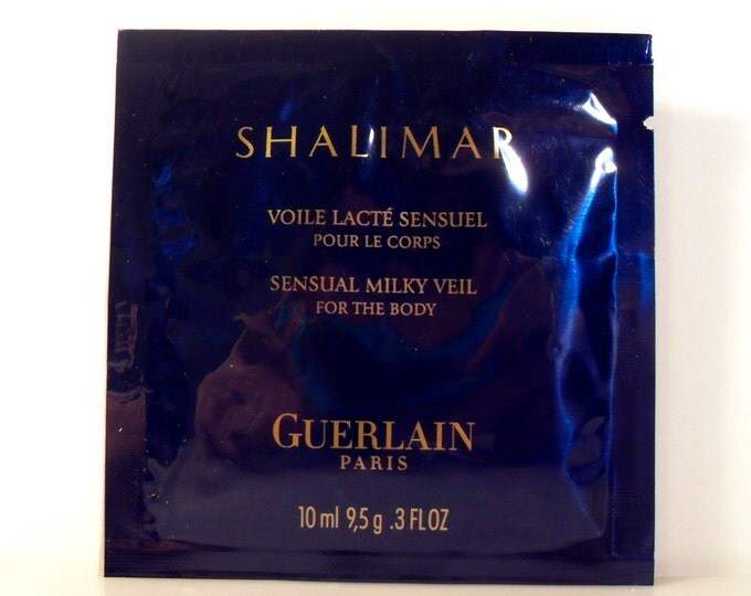 Vintage 1990s Shalimar by Guerlain 0.3 oz Sensual Milky Veil Perfumed Body Lotion Sample Packet