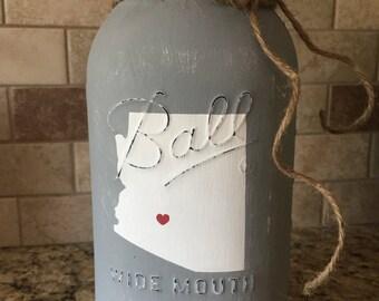 Customizable State Half Gallon Mason Jars. Arizona, States, Home