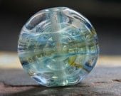 Spiral focal bead .......Lampwork....UK artist