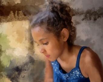 Example Custom Digital Portrait Painting, See: Item Detail
