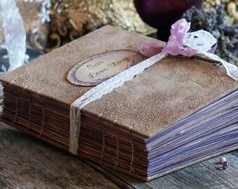 Rustic French Wedding Guest Book, Lavender Photo album, Shabby Chic Wedding, Custom Wedding Photo Booth album