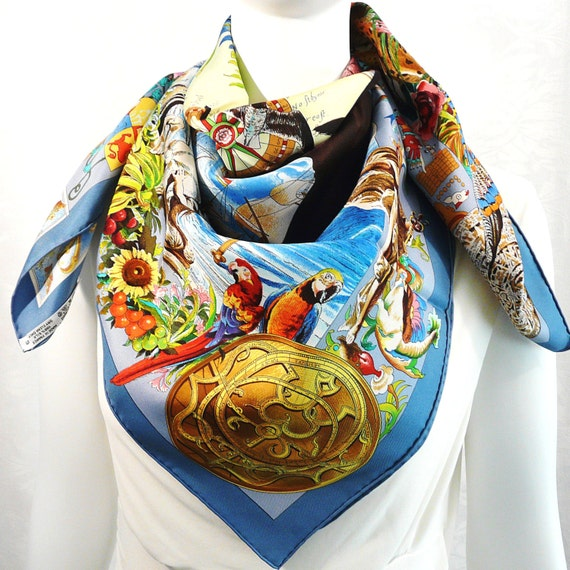 sale authentic pre owned hermes silk scarf les by carredeparis