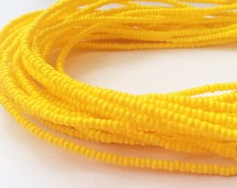 Yellow Handmade African Waist Bead (Thin) *per one strand*