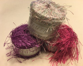 set of 3 Flutter Yarn balls, 20 g each ball