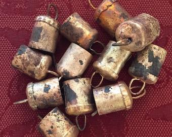 One Dozen One Inch Indian Tin/Brass Bells