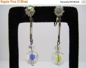 ON SALE Aurora Borealis Dangle Earrings Item K # 1053