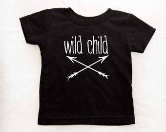 Wild Child t-shirt or onesie sizes NB-6T