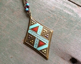 Tribal X Necklace/Tribal/Southwestern/Aztec