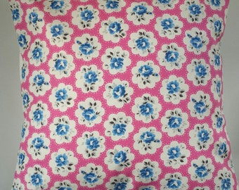 "Cushion Cover in Cath Kidston Provence Rose Fuschia Pink 14"" 16"" 18"" 20"""