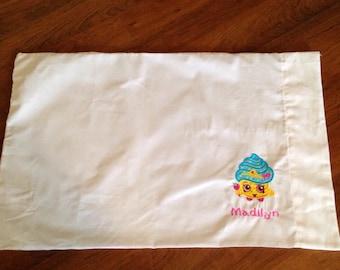 Shopkins monogrammed pillowcase