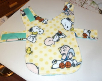 Extra Small Peanuts, Snoopy, Woodstock and the Gang Fleece Dog Coat in Yellow