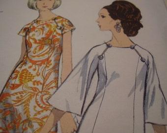 Vintage 1960's Vogue 7064 Dress Sewing Pattern, Size 18, Bust 38