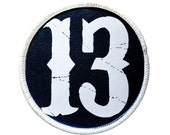 Patch - Thirteen (13) Heat Seal / Iron on Patch for jackets, shirts, tote bags, hats, beanies, cases and more