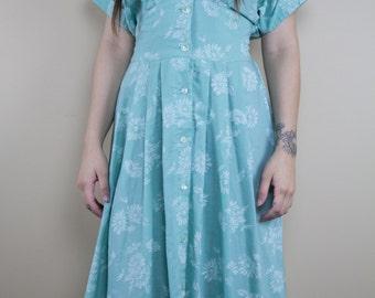Mint Garden Vintage Dress