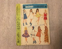 1966 Original Vintage SKIPPER Doll Clothing Patterns McCall's Sewing Pattern #8357