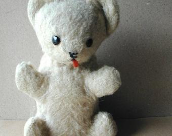 Old Mohair Bear with Swivel Head Vintage Stuffed Toy Teddy Bear