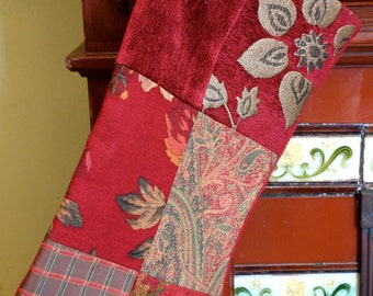 Scarlet Red Christmas Stocking