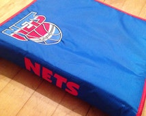 Vintage New Jersey Nets NBA Mead Zippered Trapper Keeper