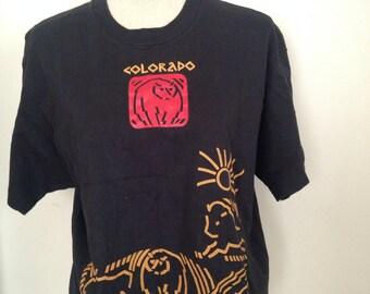 Vintage Colorado Cropped 1989 Tshirt