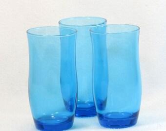 Three Robins Egg Blue Glasses