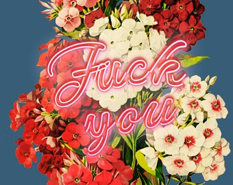 F**K You Neon Poster Design