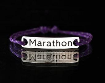 """Bracelet """"Marathon"""",  personalized run bracelet Jewelry."""