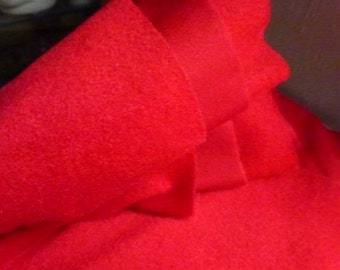2 3/4 Yards of Red Velour Fabric