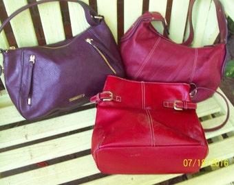 3 Great handbags -  Tommy Hilfinger, Liz Claiborne, no name but Leather -